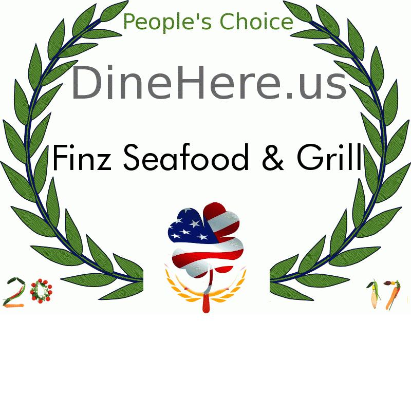 Finz Seafood & Grill DineHere.us 2017 Award Winner